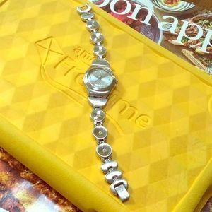 🔥SWATCH Irony Women's Silver Crystal Dress watch